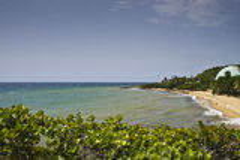 Rincon Beach. Vista of beachfront in Rincon, Puerto Rico Royalty Free Stock Photo