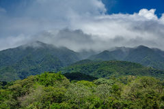 Rincon de la vieja vulcano and misty clouds. Closeup view of rincon de la vieja vulcano and misty clouds Royalty Free Stock Images