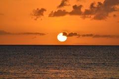 Rincon, por do sol do PR Imagem de Stock Royalty Free