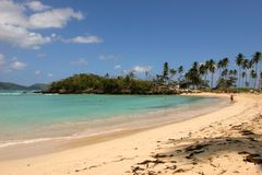 Rincon : Une des dix plages principales dans le monde Photographie stock libre de droits