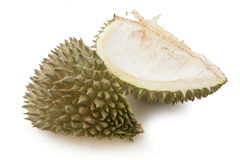 Rind durian. A close up of a rind durain on white background royalty free stock images
