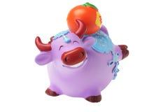 Rind-Figürchen-chinesische neues Jahr-Verzierungen Lizenzfreie Stockfotos