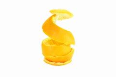 Rind. Of Orange on white background royalty free stock photography