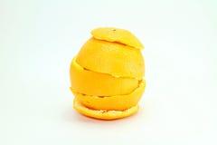 Rind. Of Orange on white background stock image