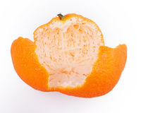 Rind of a tangerine. Isolated on a white background stock photography