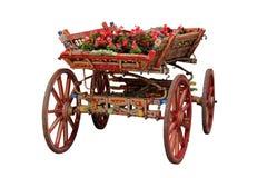 Rind-Wagen mit Blumen Lizenzfreie Stockfotos