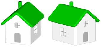 Rinda: casa verde Imagen de archivo libre de regalías
