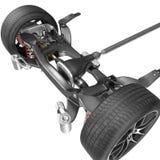 Rinda de chasis del coche sin el motor aislado en blanco ilustración 3D Foto de archivo libre de regalías