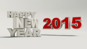 Rinda de la Feliz Año Nuevo 2015 Fotografía de archivo