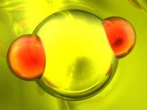 Rinda de la molécula imagenes de archivo