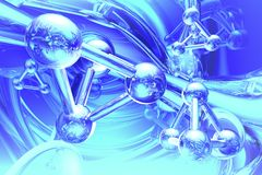 Rinda de la molécula Imágenes de archivo libres de regalías