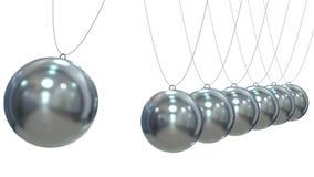 Rinda de Newton Pendulum en el fondo blanco Imágenes de archivo libres de regalías