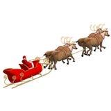 Rinda de Papá Noel - feliz Navidad Fotografía de archivo libre de regalías