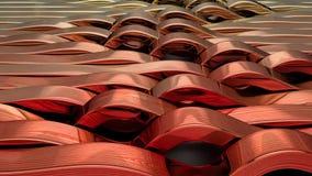 Rinda del fondo abstracto geométrico 3D almacen de metraje de vídeo