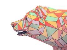 Rinda el ejemplo de la cabeza de oro del oso Imagenes de archivo