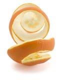 Rinde von der Orange als Spirale lizenzfreies stockbild