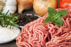 Rinderhackfleisch Stockfoto