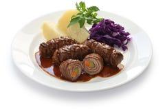 Rinderrouladen, german beef roll Royalty Free Stock Photos