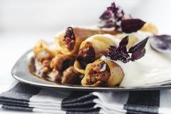 Rindfleisch-Cannelloni Lizenzfreies Stockbild