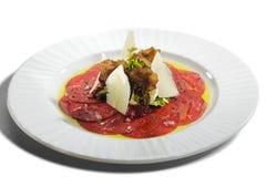 Rindfleisch Carpaccio Lizenzfreies Stockfoto