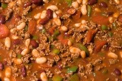 Rindfleisch-Chili con carne-Hintergrund Lizenzfreie Stockfotos