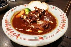 Rindfleisch-Curry mit Reis stockbilder