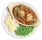 Rindfleisch-Eintopfgericht mit Gemüse-Mahlzeit stockfotografie