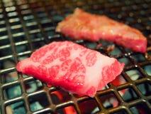 Rindfleisch geschnittener Grill oder Matsusaka-wakyu lizenzfreie stockfotografie