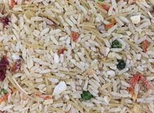 Rindfleisch gewürzte Reismischungs-Abschlussansicht Stockfotografie