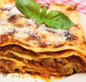 Rindfleisch-Lasagne Stockfoto