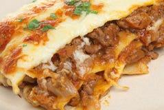 Rindfleisch-Lasagne stockbilder