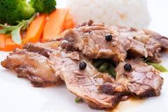 Rindfleisch mit chinesischer Soße Lizenzfreie Stockbilder