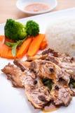 Rindfleisch mit chinesischer Soße Lizenzfreie Stockfotos