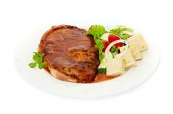 Rindfleisch mit Crackern Lizenzfreies Stockfoto