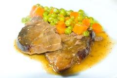 Rindfleisch mit Gemüse Stockfoto