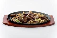 Rindfleisch mit Pilzen Lizenzfreie Stockbilder