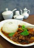 Rindfleisch mit Reis Stockfotos