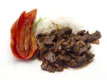 Rindfleisch mit Rotweinsoße Lizenzfreies Stockbild