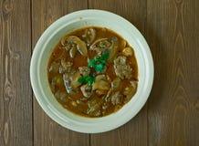 Rindfleisch oder Kalbfleisch Piccata Stockfoto