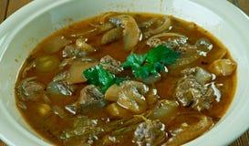 Rindfleisch oder Kalbfleisch Piccata Stockbild