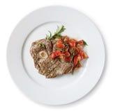 Rindfleisch osobuko (osso bucco) Lizenzfreies Stockfoto