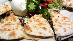 Rindfleisch Quesadillas stock video