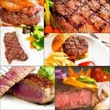 Rindfleisch richtet Collage an Stockfoto