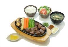 Rindfleisch-Steak-Satz Stockfotos