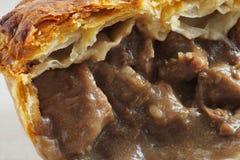 Rindfleisch-Steak-Torten-Nahaufnahme Lizenzfreie Stockbilder