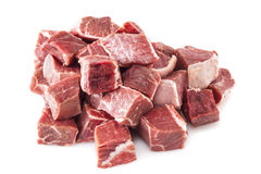 Rindfleisch Stew Meat Raw Lizenzfreie Stockfotos
