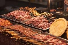Rindfleisch-u. Lamm-Aufsteckspindeln Stockfoto