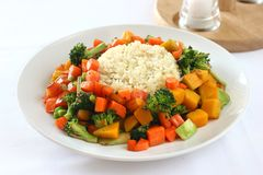 Rindfleisch u. Reis Stockfotos