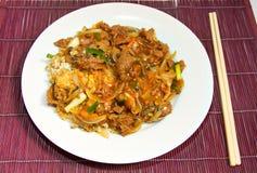 Rindfleisch- und Austerensoße Stockbild