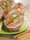 Rindfleisch und Gemüse Rolls Lizenzfreie Stockfotos